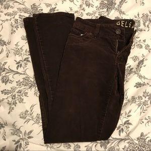 Delia's Brown Corduroy Skinny Jeans